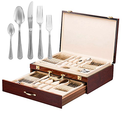 Italian Collection 'Elizabeth' 65-Pc Premium Silverware Flatware Serving Set