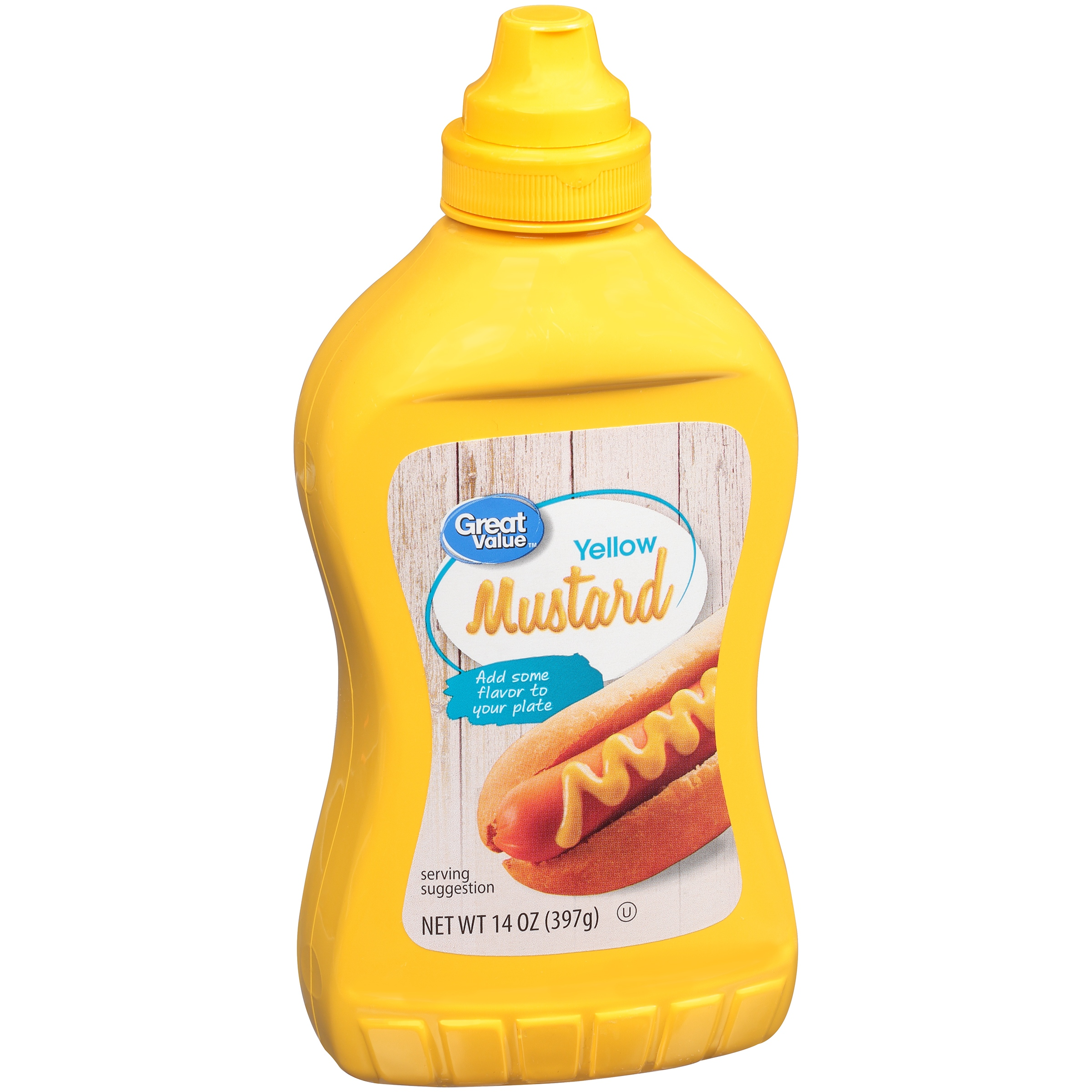Great Value Yellow Mustard, 14 oz