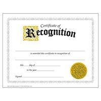 CERTIFICATE OF RECOGNITION 30/PK CLASSIC 8-1/2 X 11