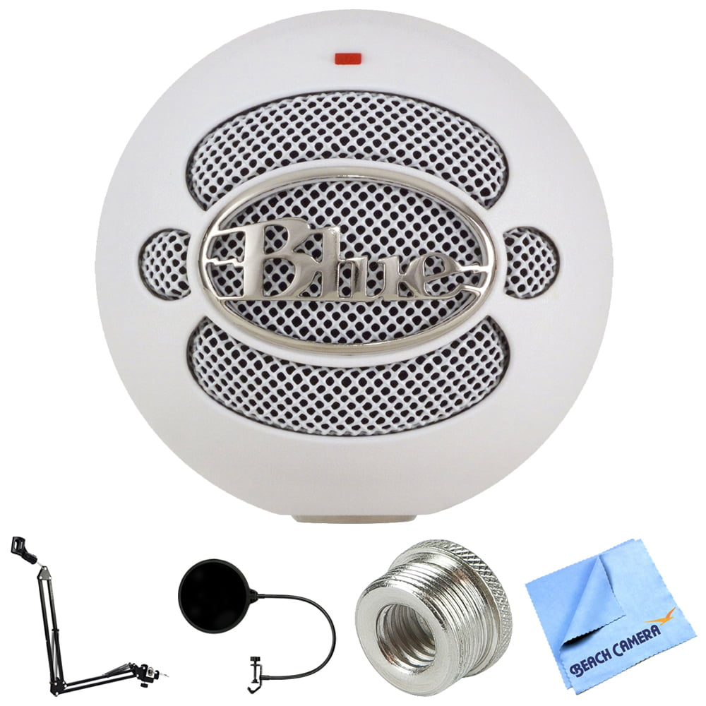 Blue Microphones Snowball USB Microphone Textured White (4911-SBBN) + Suspension Boom... by Blue Microphones