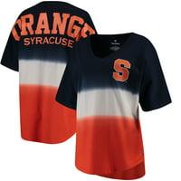 Syracuse Orange Women's Ombre V-Neck Spirit Jersey T-Shirt - Navy/Orange