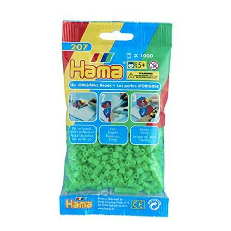 hama beads - fluorescent green (1000 midi beads)