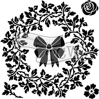 """Crafter's Workshop Template 12""""X12""""-Big Wreath - image 1 of 1"""