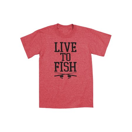 Live To Fish Fun Fishing Novelty - Mens T-Shirt