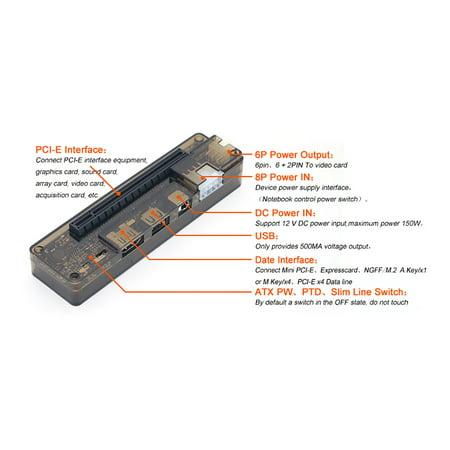 Laptop External Independent Video Card Graphics Dock Mini PCI-E Version for V8.0 EXP GDC