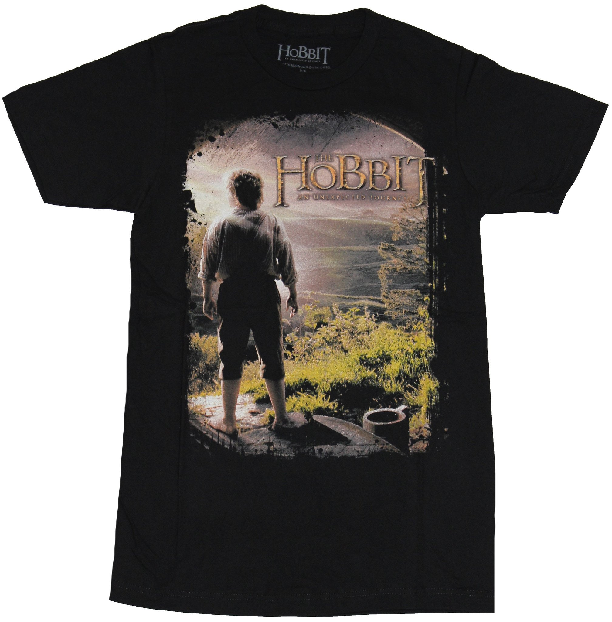 The Hobbit Unexpected Journey Movie The Company Silhouette Big Boys T-Shirt Tee