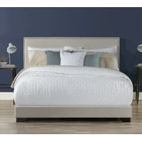 Willow Nailhead Trim Upholstered Bed, Multiple Colors and Sizes, by Hillsdale Living Essentials