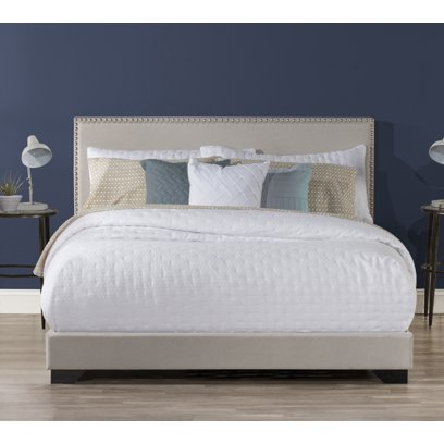 Hillsdale Willow Nailhead Trim Upholstered Queen Bed