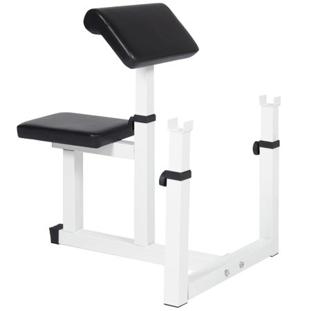 Best Choice Products Fitness Adjustable Exercise Preacher Arm Curl Bench for Home Gym -