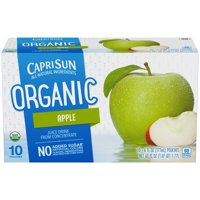 (4 Pack) Capri Sun Organic Apple Ready-to-Drink Soft Drink, 10 - 6 fl oz Pouches