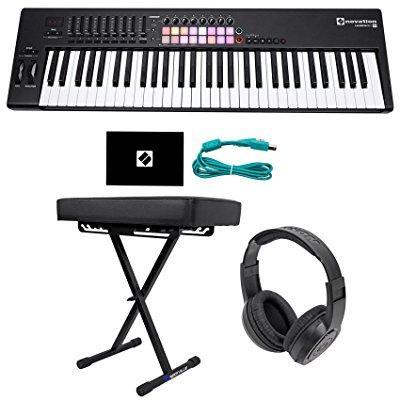 Novation LAUNCHKEY 61 MK2 61-Key USB/MIDI Controller Keyboard+Bench+Headphones