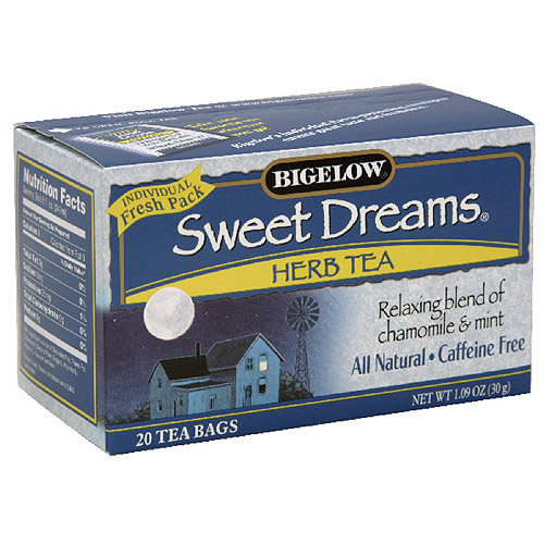 Bigelow Sweet Dreams Caffeine Free Herb Tea, 1.09 oz  (Pack of 6)