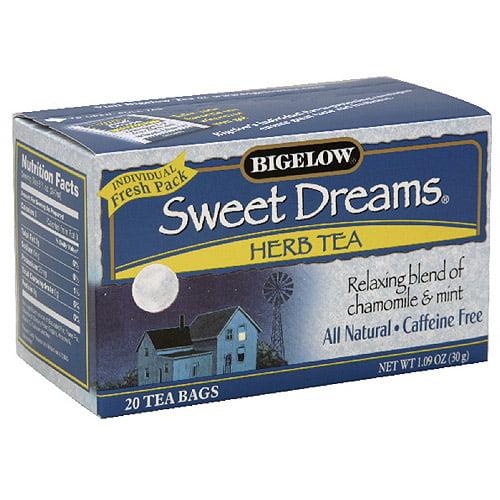 Bigelow Sweet Dreams Caffeine Free Herb Tea, 1.09 oz  (Pack of 6)