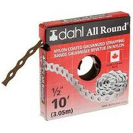 - DAHL 9090 Pipe Strap, 110 lb Capacity, 10 ft OAL, 1/2 in OAW, Galvanized Steel