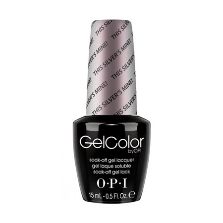 Opi Gelcolor Collection Nail Gel Lacquer, 0.5 Fluid Ounce - THIS SILVER'S MINE! Silver Staining Gel
