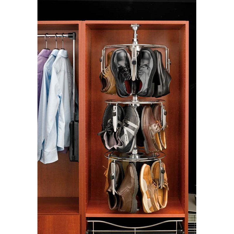Rev-A-Shelf RCLSZ-M3-55-1 3-Tier Men's Lazy Shoezen with Shaft Closet