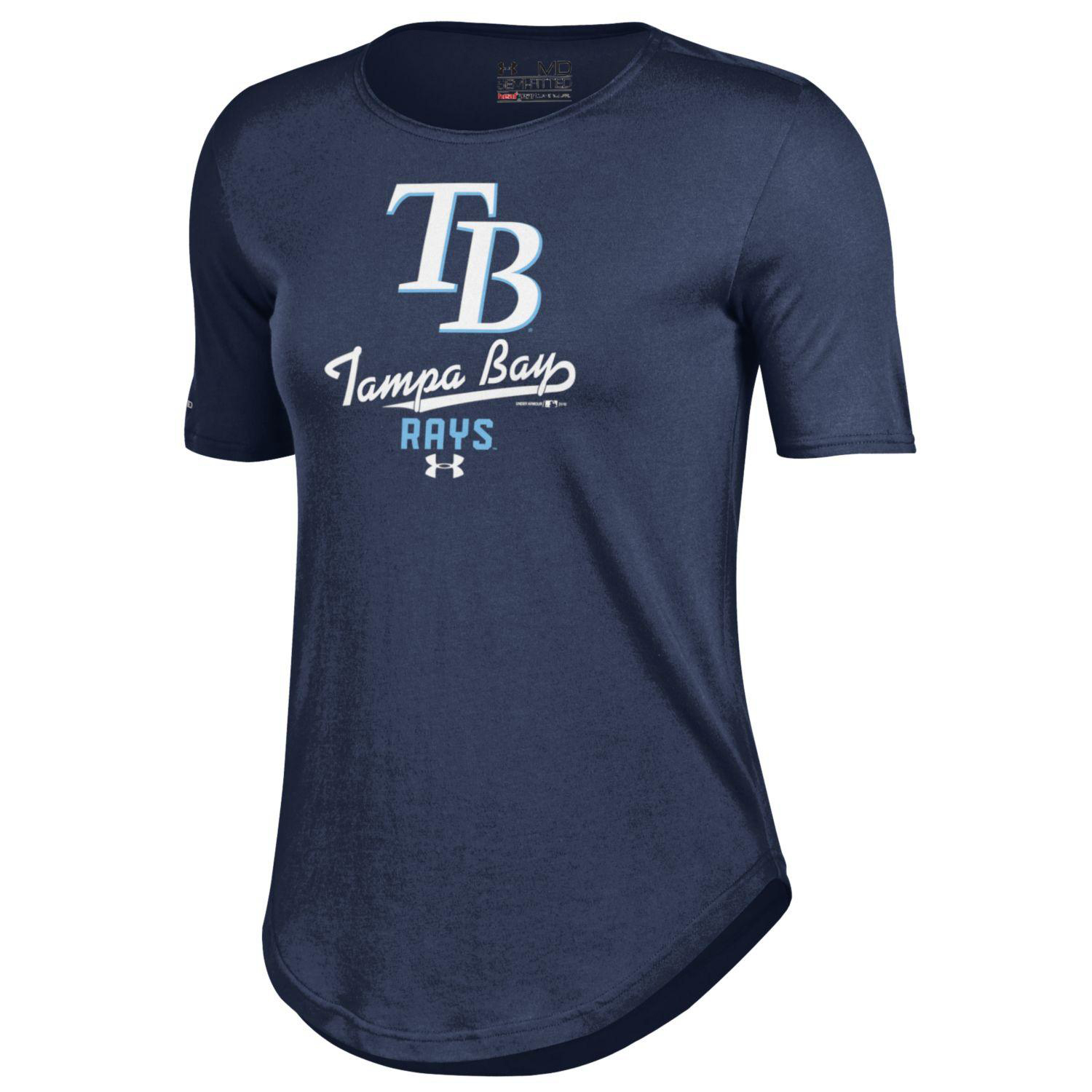 Tampa Bay Rays Under Armour Women's Crew Performance T-Shirt - Navy