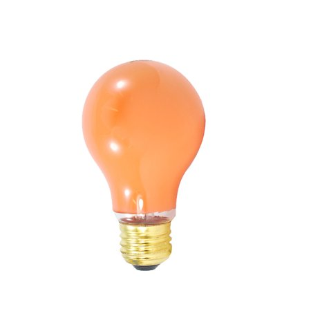 2PK - Sunlite 25w A19 120v Medium Base Orange light bulb