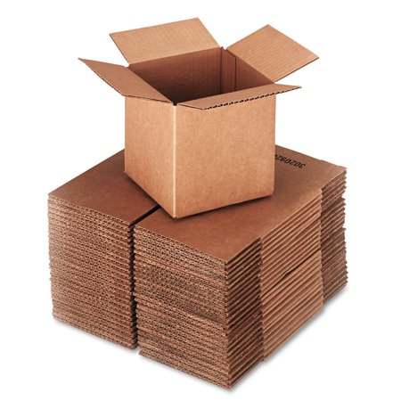 Brown Corrugated - Cubed Fixed-Depth Shipping Boxes, 6l x 6w x 6h, 25/Bundle - Round Cardboard Boxes