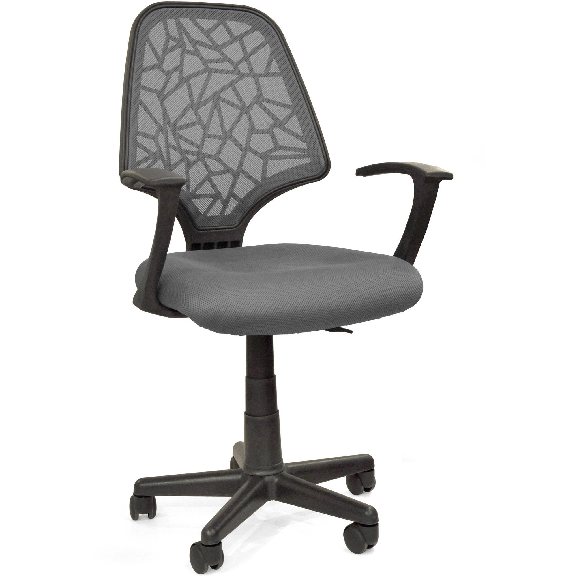 your zone crackled chair with armrests, Grey