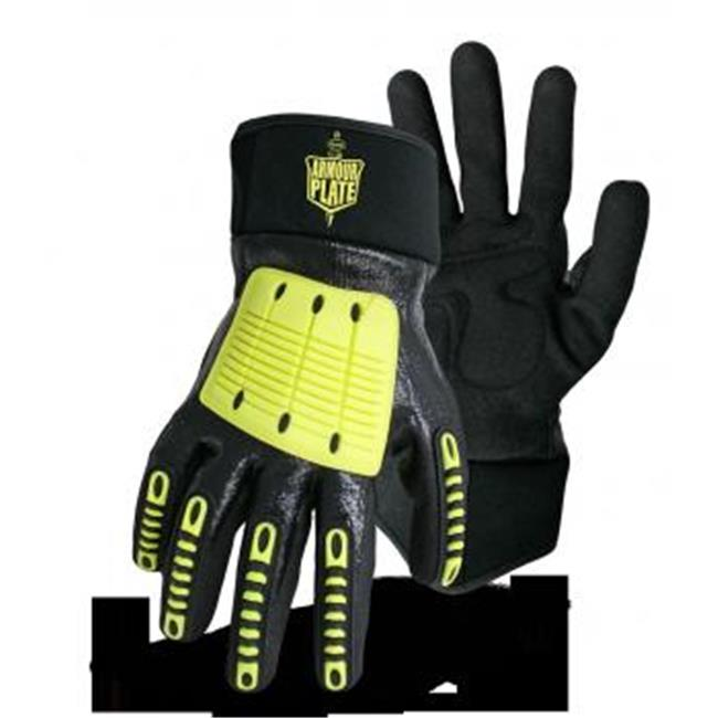 Boss 1CF7005TPRM Armour Plate With Full-Finger TPR Protection  Medium Glove Pack Of 6