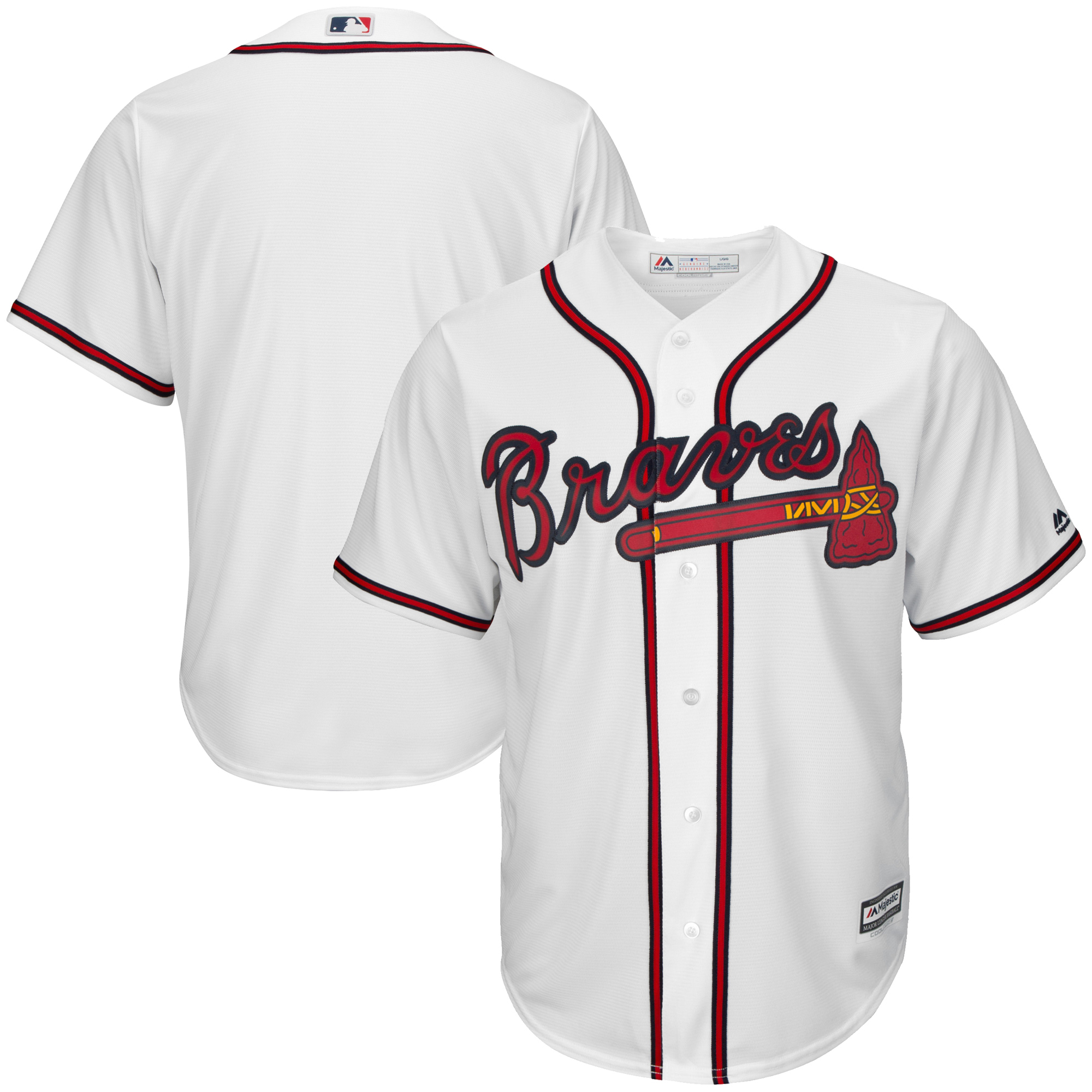 Atlanta Braves Majestic Big & Tall Cool Base Team Jersey - White