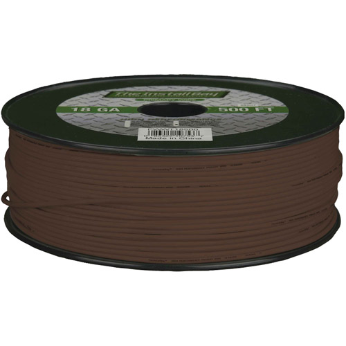 Install Bay 18-Gauge Primary Wire, 500' (Brown)