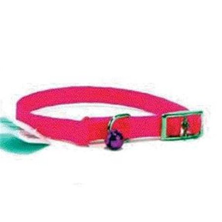 Braided Safety Cat Collar- Hot Pink 12 X .38 - 801 HP](Pink 38)