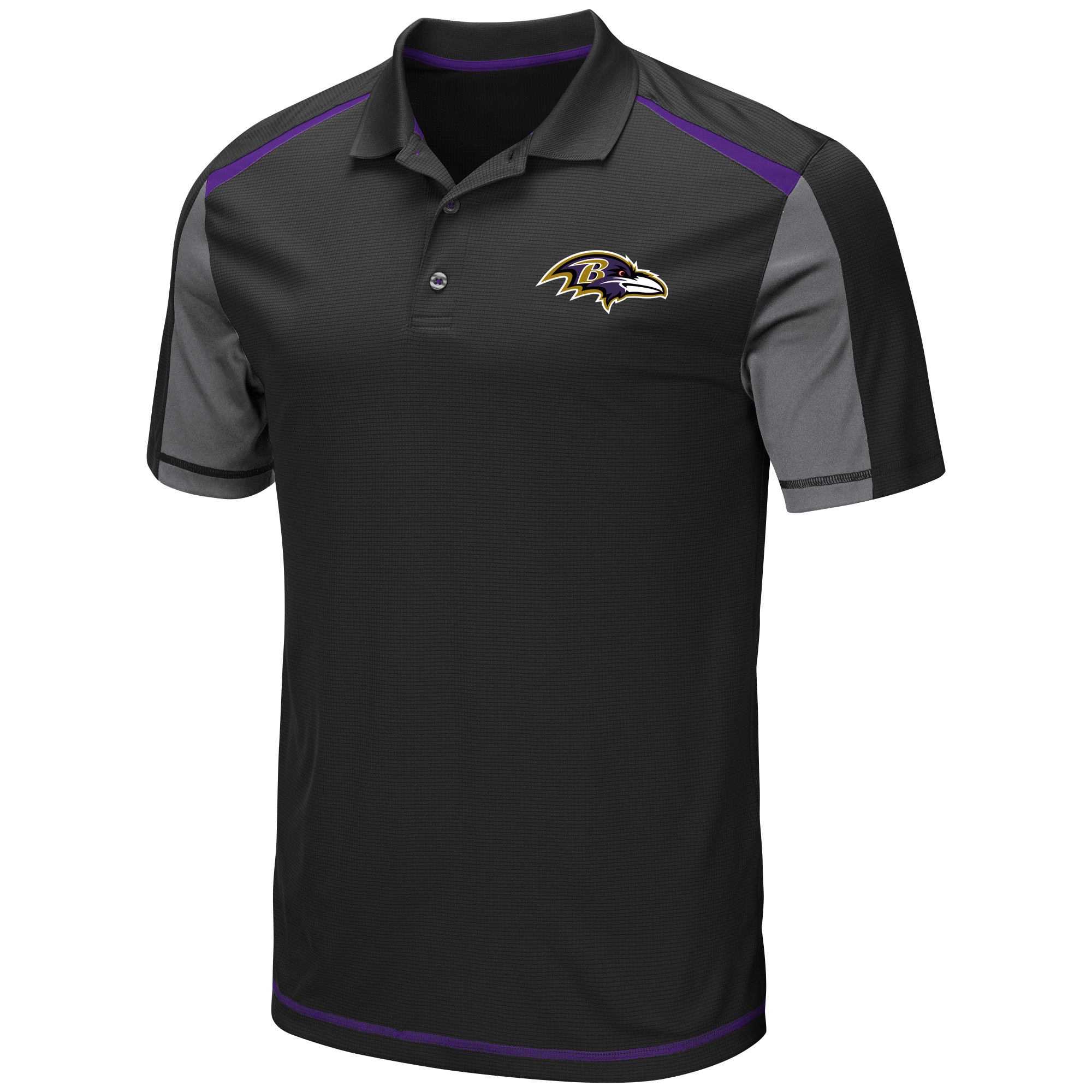 Men's Majestic Black Baltimore Ravens Draft Prize Polo
