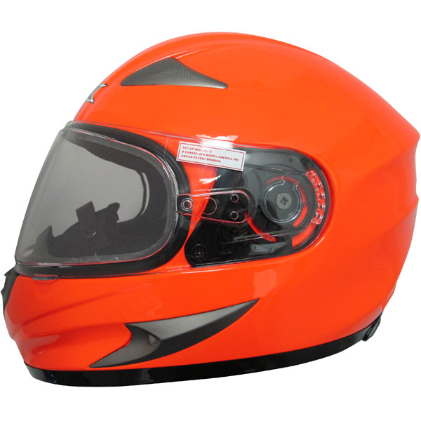 AFX FX-90S Solid Snowmobile Helmet Safety Orange XL