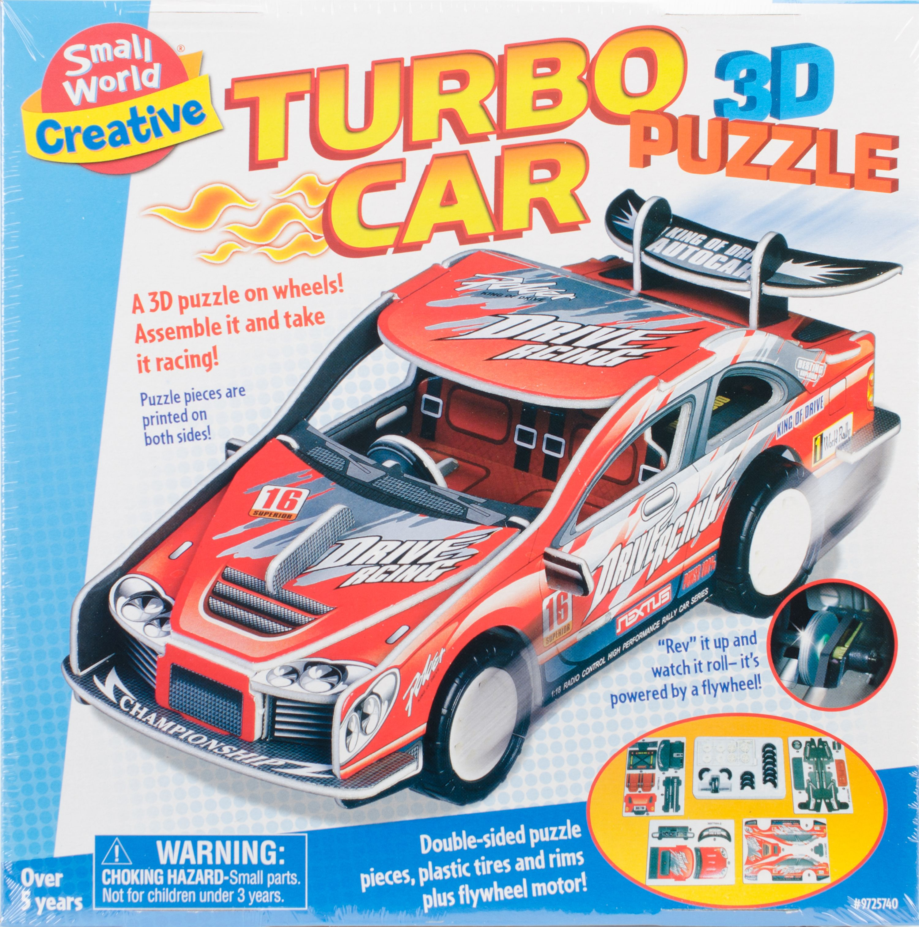Turbo Car 3D Puzzle by Small World Toys Creative