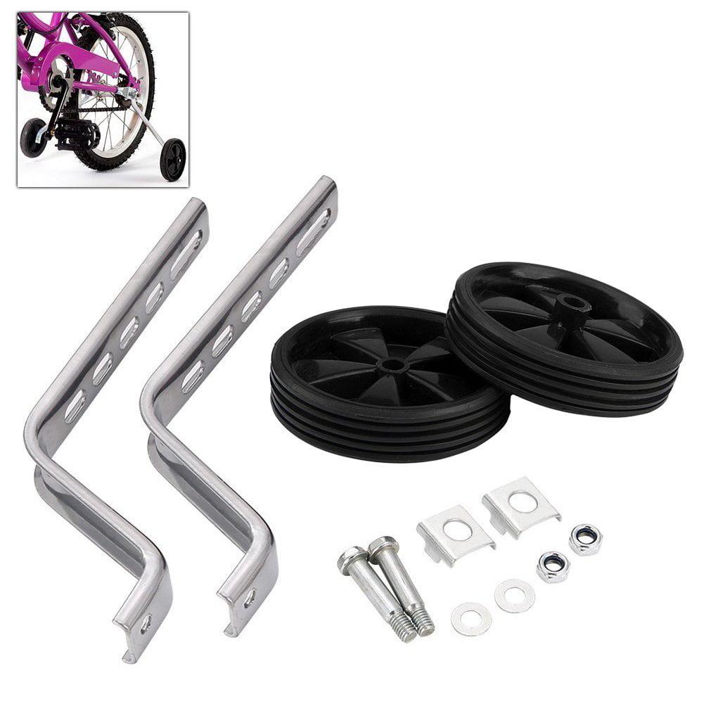 Estink Children's Bicycle 20-Inch Adjustable Training Wheels, Universal Kids Bike Stabiliser Suitable for Bikes Wheel (Black)