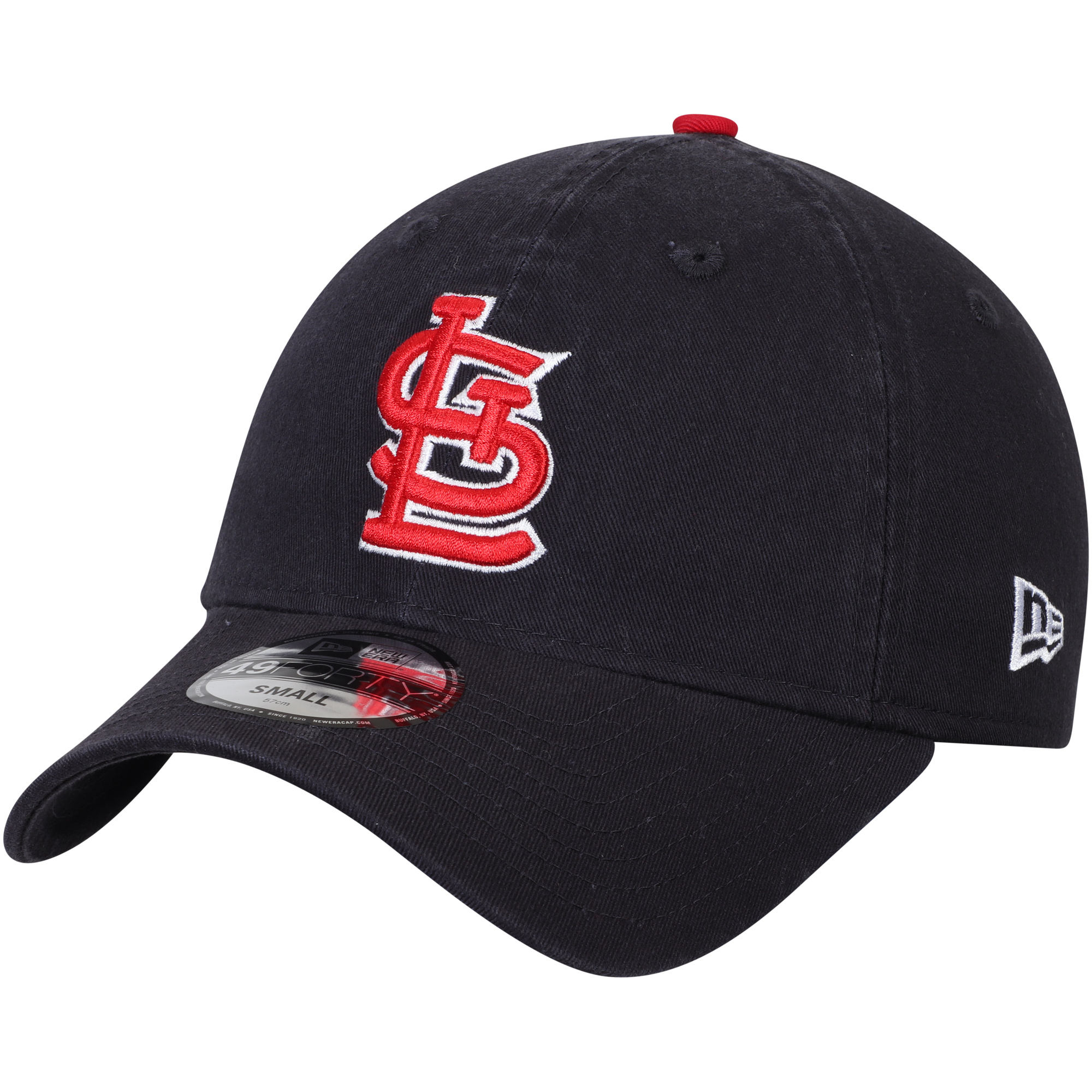 St. Louis Cardinals New Era Core Fit Replica 49FORTY Fitted Hat - Navy