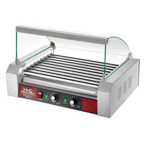 Great Northern Commercial Quality 24 Hot Dog 9 Roller Grilling Machine W/ Cover 1800Watts