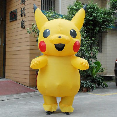 Adult Child  Mascot Pikachu Inflatable Costume Cosplay  Funny Dress Outfit (Pikachu Costume Adult)