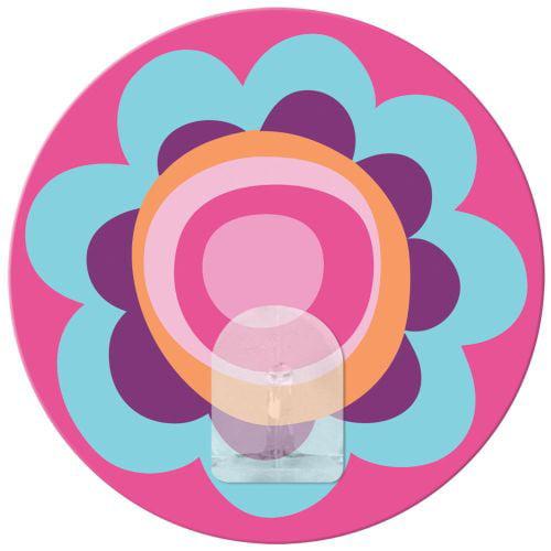 York Wallcoverings RMK2034HK RoomMates Pink Light Flower Magic Hook