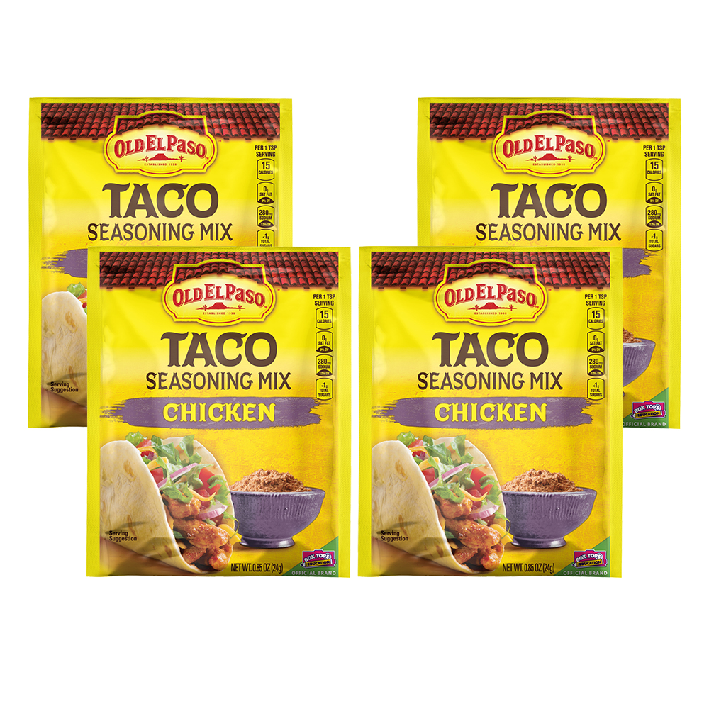 Old El Paso Chicken Taco Seasoning Mix, .85 oz, 0.85 OZ (4 Pack)