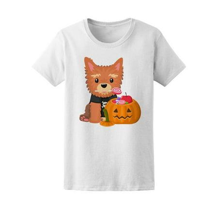 Halloween Pumpkin Cute Yorkshire Tee Women's -Image by Shutterstock](Yorkshire Halloween)
