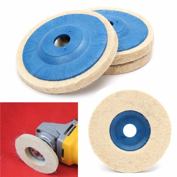 3Pcs 4 Inch 100mm Round Grinding Wool Pad Polishing Wheel Felt Buffer Disc Set SPECIAL TODAY !