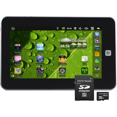 "Maylong 7.0"" Tablet PC with Bonus FileMate 16GB MicroSD Card Bundle"