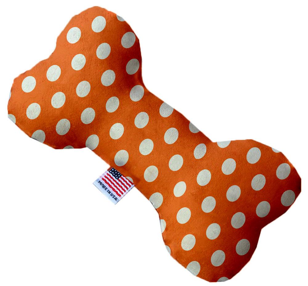 Melon Orange Swiss Dots 6 Inch Bone Dog Toy