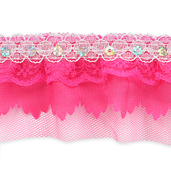 Expo Int'l 5 yards of Elenor Sequin Embellished Lace Trim 2 1/6""