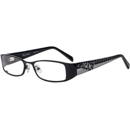 Oleg Cassini Womens Prescription Glasses Oco342 Black Walmartcom