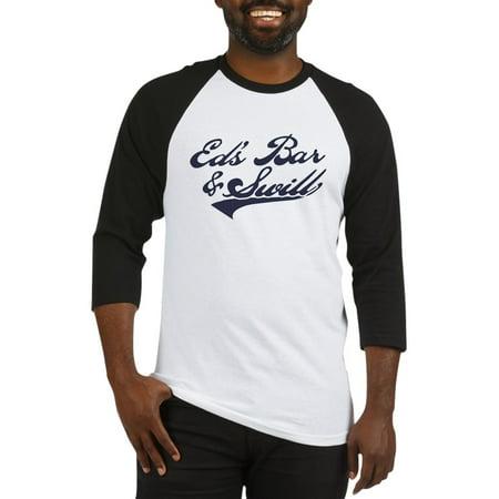 reputable site f284a acf72 CafePress - CafePress - Ed's Bar & Swill Baseball Jersey - Cotton Baseball  Jersey, 3/4 Raglan Sleeve Shirt - Walmart.com