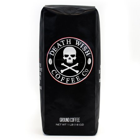 Death Wish Coffee Company Organic Fair Trade Ground Coffee, 16 Oz