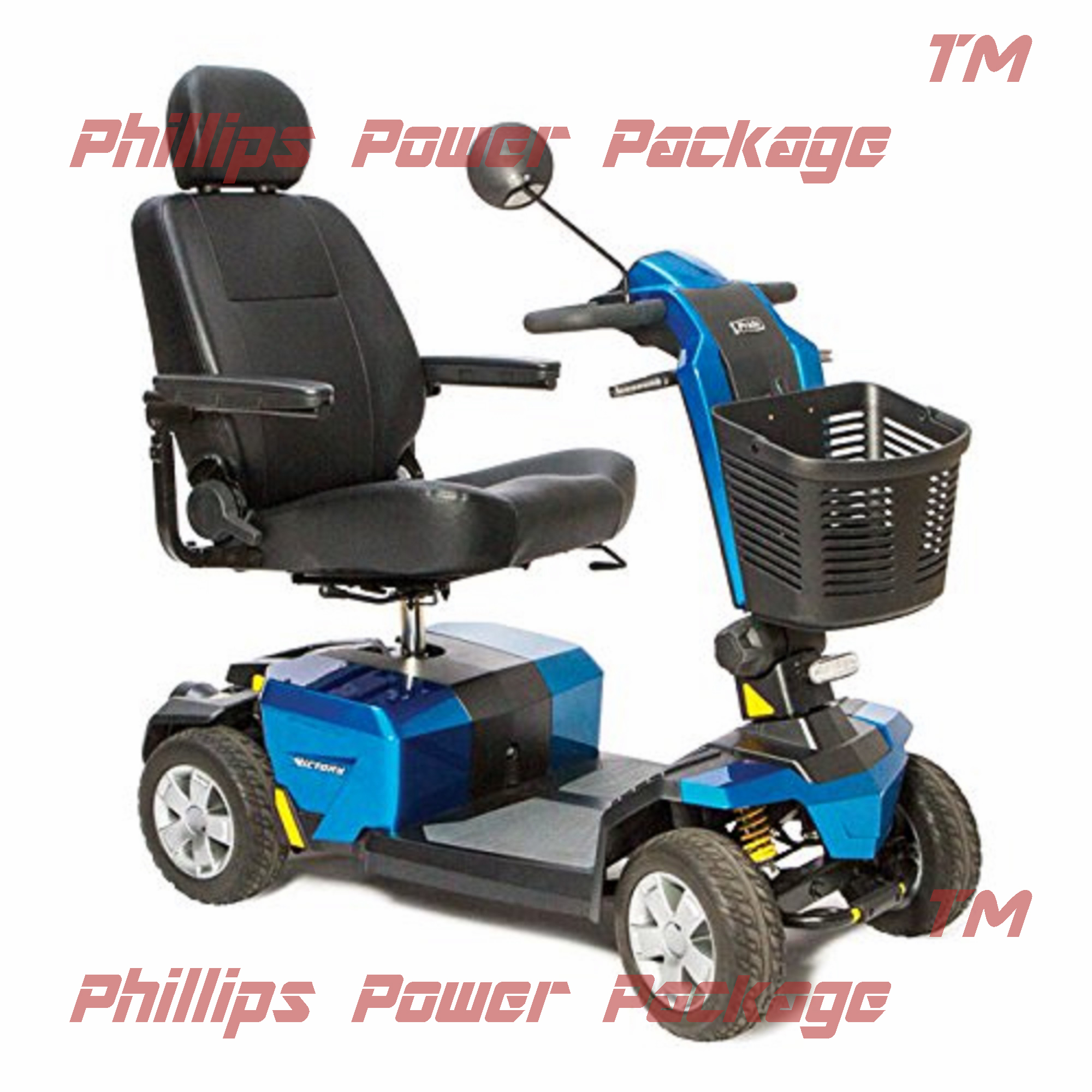 Pride Mobility Victory 10 LX with CTS Suspension Full-Sized Scooter 4-Wheel True Blue by Pride Mobility