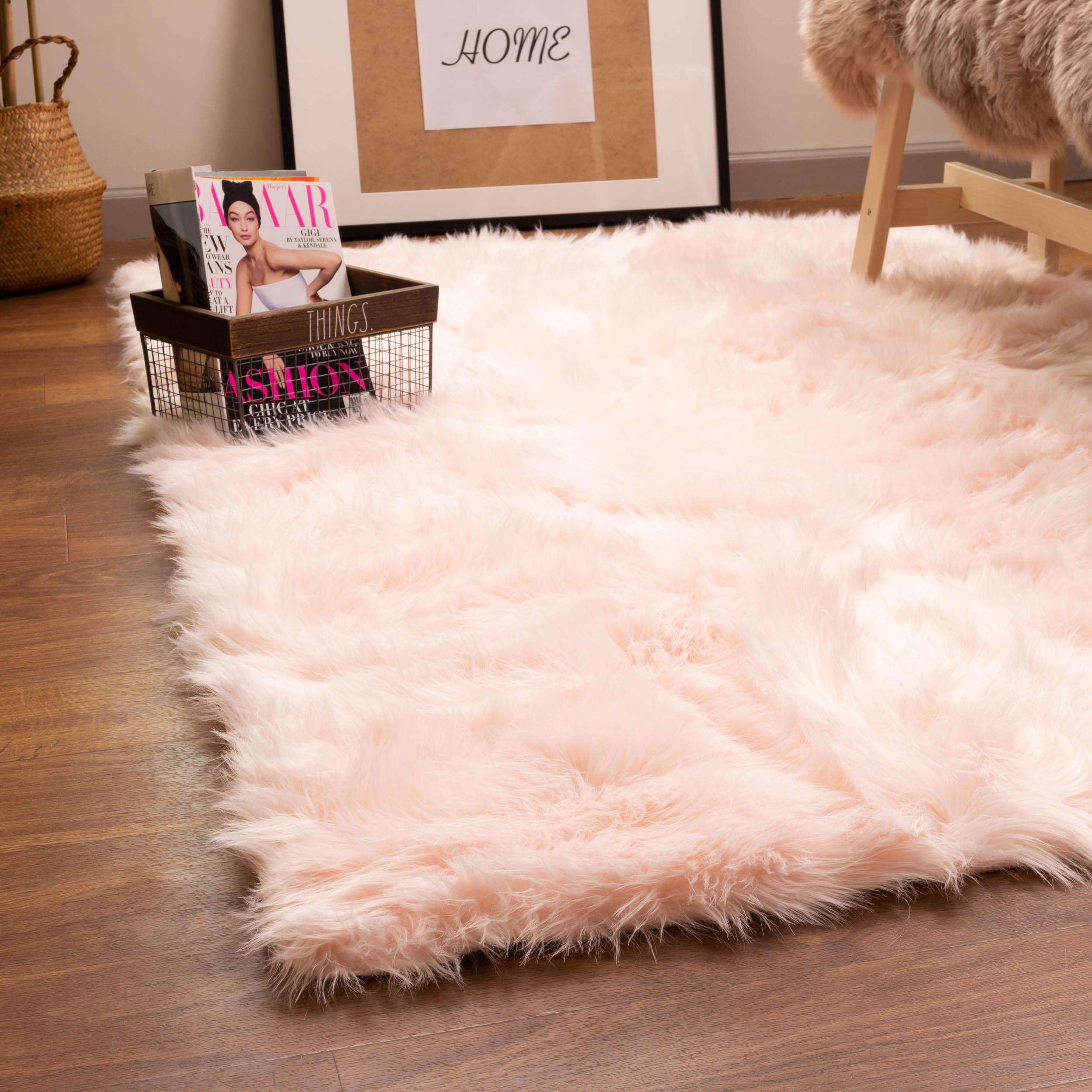 Ultra Soft Faux Sheepskin Fur Shag Rug