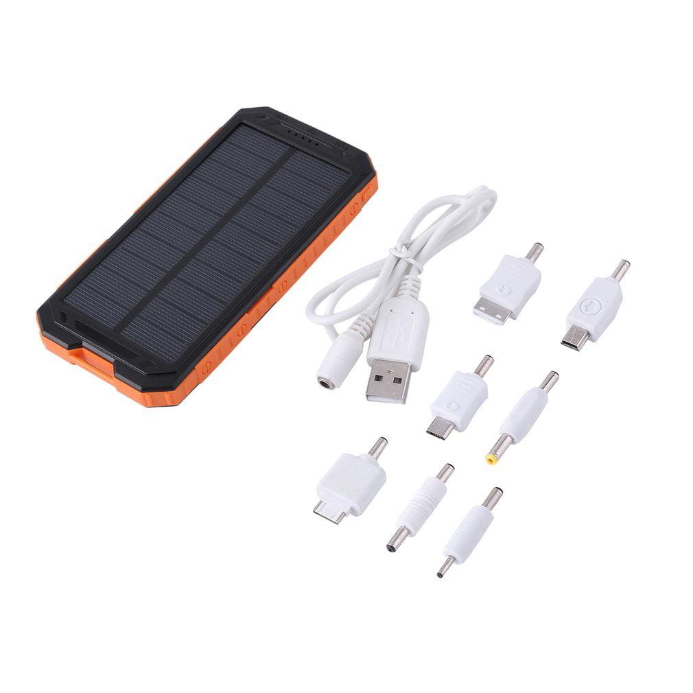 Waterproof Powerbank Solar Power Bank 20000mah Dual USB Solar Battery Charger by konxa
