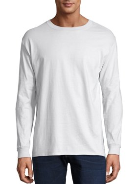 Hanes Men's and Big Men's Premium Beefy-T Long Sleeve T-Shirt, Up To 3XL