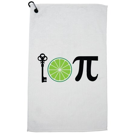 Key Lime Pi Iconic Pi Day Celebration 3-14 Golf Towel with Carabiner Clip